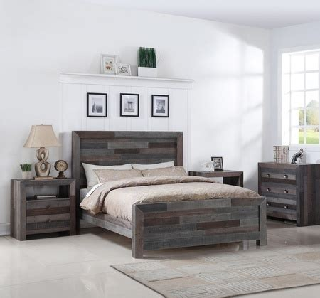 Gray Wood King Bed Angora Reclaimed Wood Size Platform Bed Zin Home