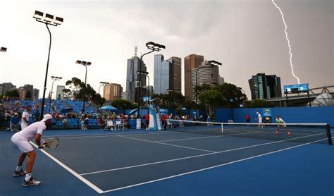 Lightning Strikes Car In Melbourne Australia Lightning Interrupts Play At Australian Open