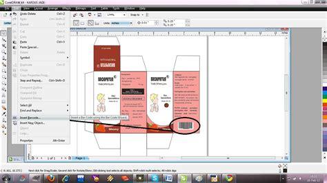 membuat design kardus obat  corel draw