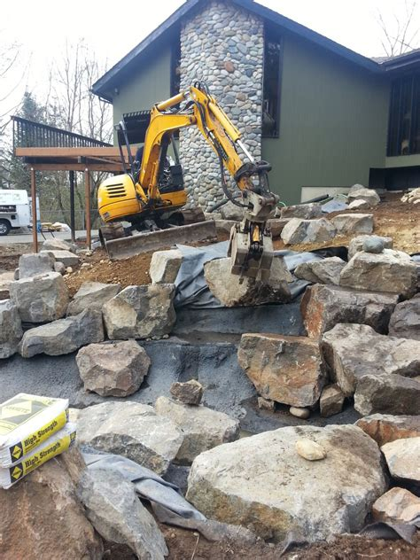 rock garden design and construction snohomish water feature rock setting sublime garden design