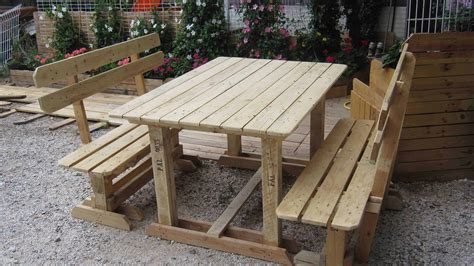 how to build a picnic table bench outdoor pallet benches table 1001 pallets