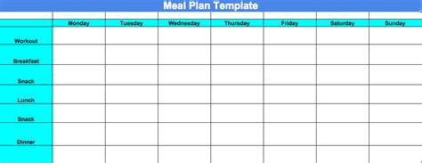 blank meal plan printable week 4 progress update and chalean extreme meal plan