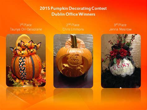 Contests And Sweepstakes 2015 - 2015 pumpkin decorating contest winners the food connection