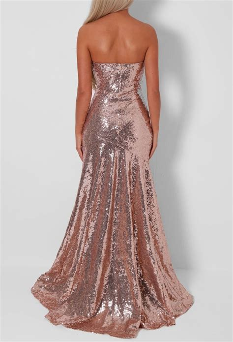 rose gold prom dress  bb fashion