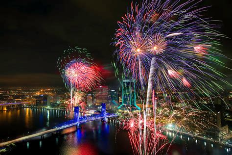 new year in jacksonville fl jacksonville new years fireworks photograph by chris