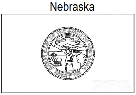 geography blog nebraska state flag coloring page