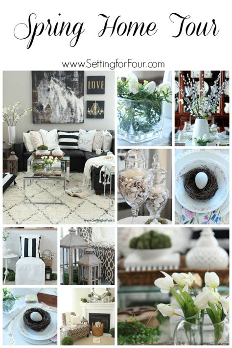 spring home decorating ideas spring home tour setting for four