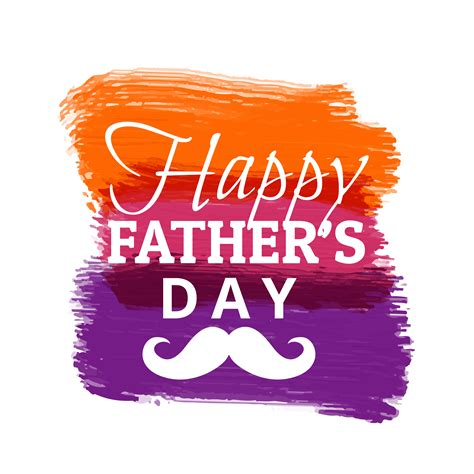 happy fathers day  colorful paint strokes