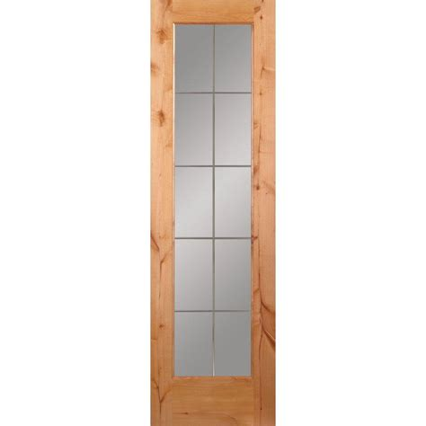 24 X 80 Interior Door Feather River Doors 24 In X 80 In 10 Lite Illusions Woodgrain Unfinished Knotty Alder Interior