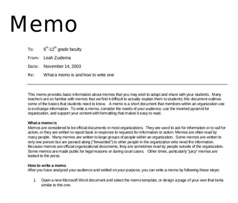 template for writing a memo 16 professional memo templates sle word docs
