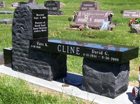 bench headstones gravestones des moines iowa monuments headstones granite