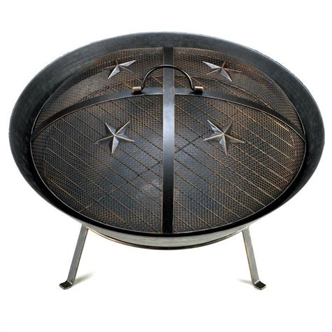 Cast Iron Fire Pit Outdoor Patio Deck Fireplace Backyard Cast Iron Firepits