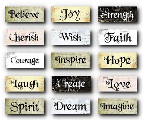 Inspirational Words Items Similar To Grungy Inspirational Words Charms