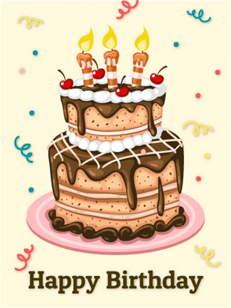 Birthday Card Cake Pictures