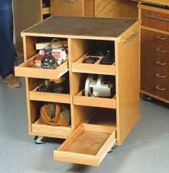 Ideas For Workbench With Drawers Design Rolling Cart Fits A Workbench Storage For Tools Neat Diy Power Tools