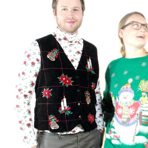 smoooooth black velvet ugly christmas vest the ugly