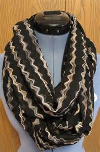 Gold Infinity Scarf Sale Womens Black And Gold Infinity Scarf By