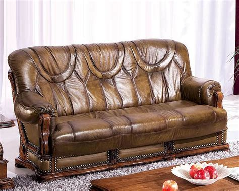 european sofa european design leather sofa bed in light brown finish 33ss182