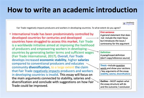 how to write the theory section of a research paper how to write an academic introduction academic uk