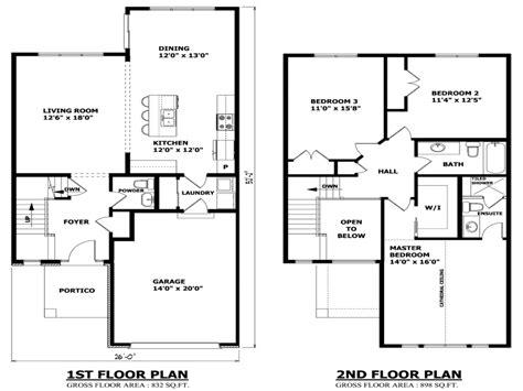 2 bedroom floor plans home design ideas picture