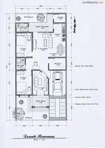 Layout Rumah 7 X 20 | art deco house design plans size 8 m x 17 m