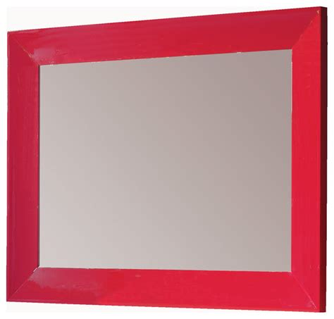Red Bathroom Mirror | viena 55 quot 1 4 mirror wall red eclectic bathroom