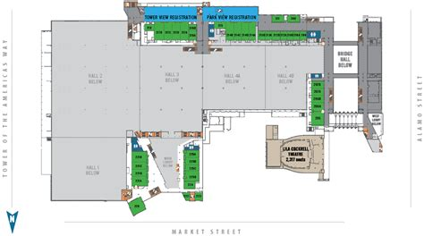 convention center floor plan the best 28 images of henry b gonzalez convention center