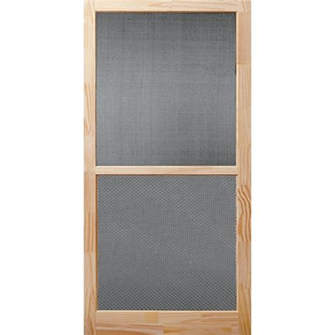screen doors bay 32 in x 80 in century unfinished wood