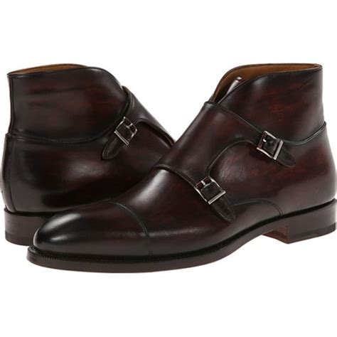 mens monk boots handmade brown monk chukka leather boots mens