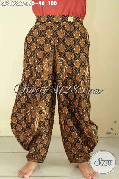 Celana Kulot Motif Bunga Kekinian celana panjang batik kulot wanita berbahan halus motif klasik desain kekinian pas buat jalan