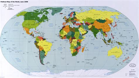 large scale map large scale political map of the world with major cities and capitals 1998 world mapsland