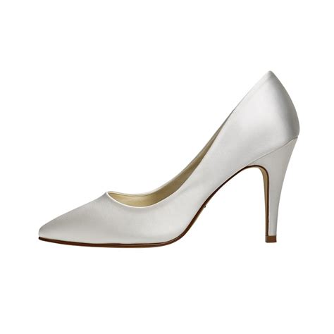 ivory satin shoes rainbow club ivory satin court shoes shoes co uk