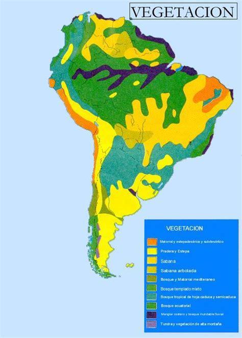 vegetation map of america south america vegetation