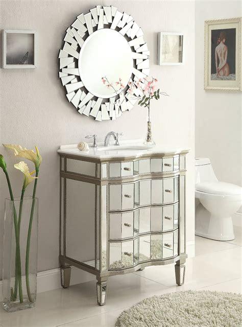 Adelina 24 Inch Mirrored Bathroom Vanity - adelina 30 inch mirrored bathroom vanity cabinet mirror