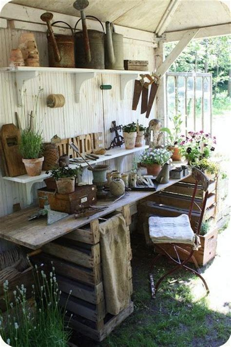 potting shed interior with rustic country design idea 1197 best images about greenhouses garden houses tree