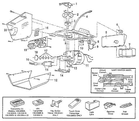 Sears Craftsman Garage Door Opener Parts by Automatic Garage Door Parts Diagram Wageuzi