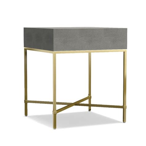 faux shagreen side table williams sonoma