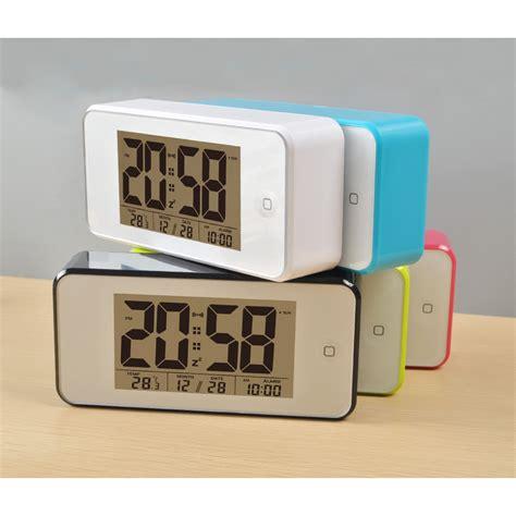 digital desktop smart clock touch buttom jp9902 green