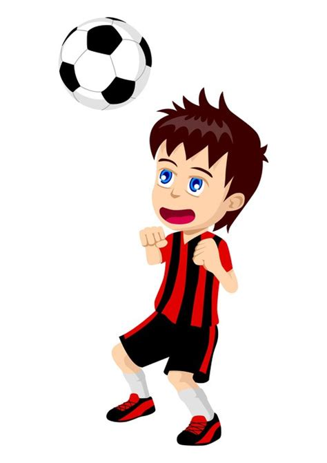 hombre de dibujos animados jugar futbol vector de stock vinilo pixerstick ilustraci 243 n de dibujos animados de un