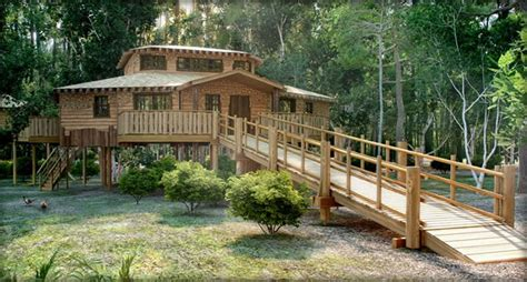 Centre Parcs Log Cabins by Luxury Treehouses At Center Parcs Epr Travel News