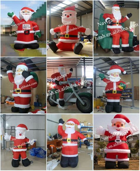 giant blue inflatable santa for christmas decoration buy