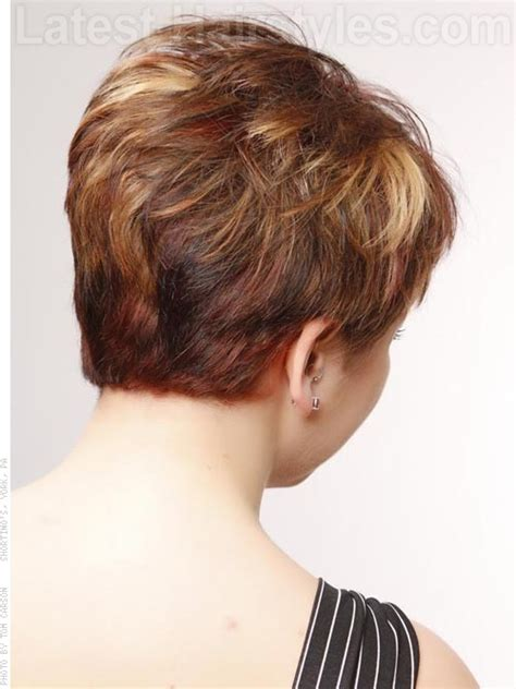 over 50 short hairstyle front and back views pixie haircuts for women over 50 fun short choppy