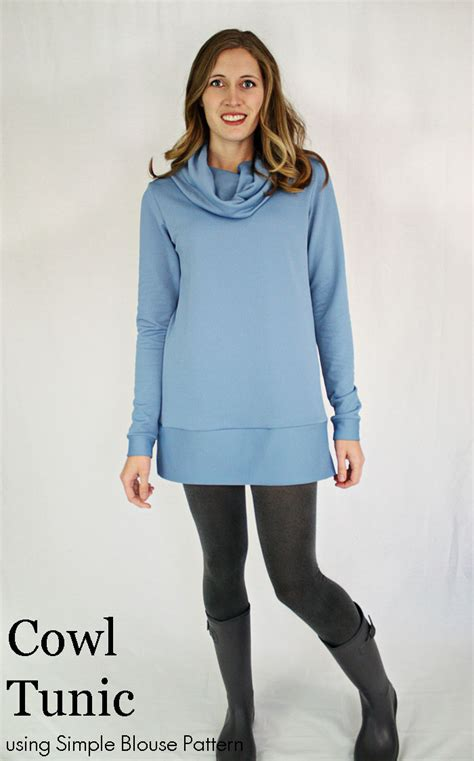 Simple Tunik 3 running with scissors simple blouse variation cowl tunic