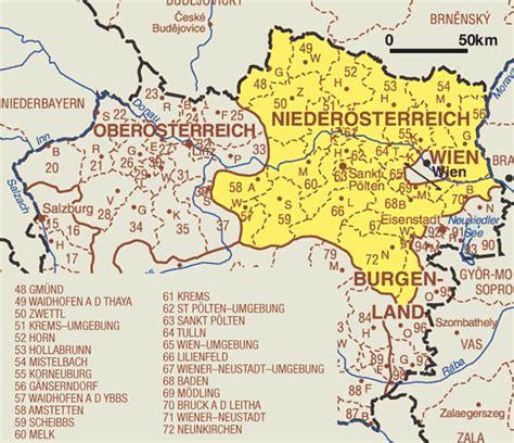 Landkarten Drucken Online by Landkarte Nieder 246 Sterreich Weltkarte Karten Und