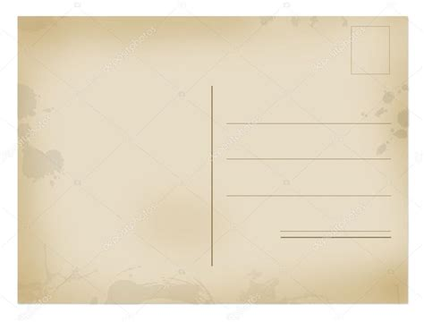 which side of the envelope does the st go on back side of old postal card stock vector 169 roxanabalint