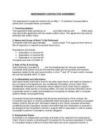 Consultant Agreement Contract Template Sample Consulting Contract