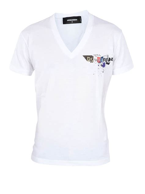 Zeyo S Cotton Printed T Shirt by Dsquared2 Printed Cotton T Shirt T Shirts S74gd0165 100 Ikrix