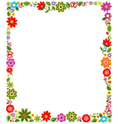 Floral Border Frame Background Vector 1244785 By Paul Flowers A4 Page Borders