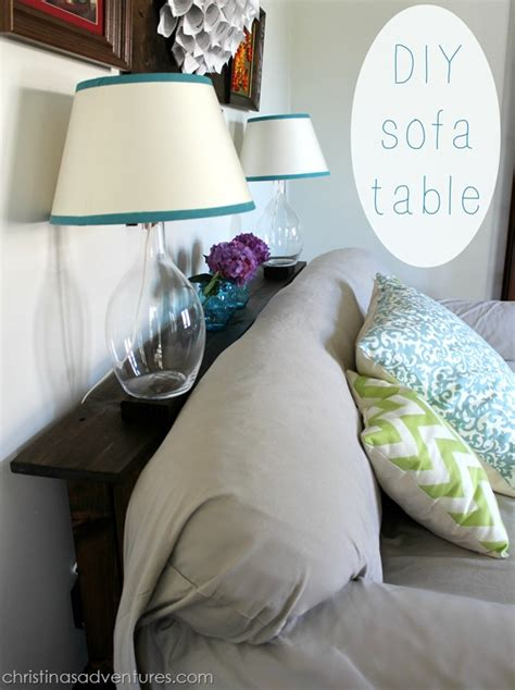 diy behind the couch table diy sofa table christinas adventures