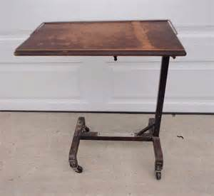 Rolling Drafting Table Antique Wood Rolling Tray Table Hospital Bed Serving Reading Drafting Steunk Ebay